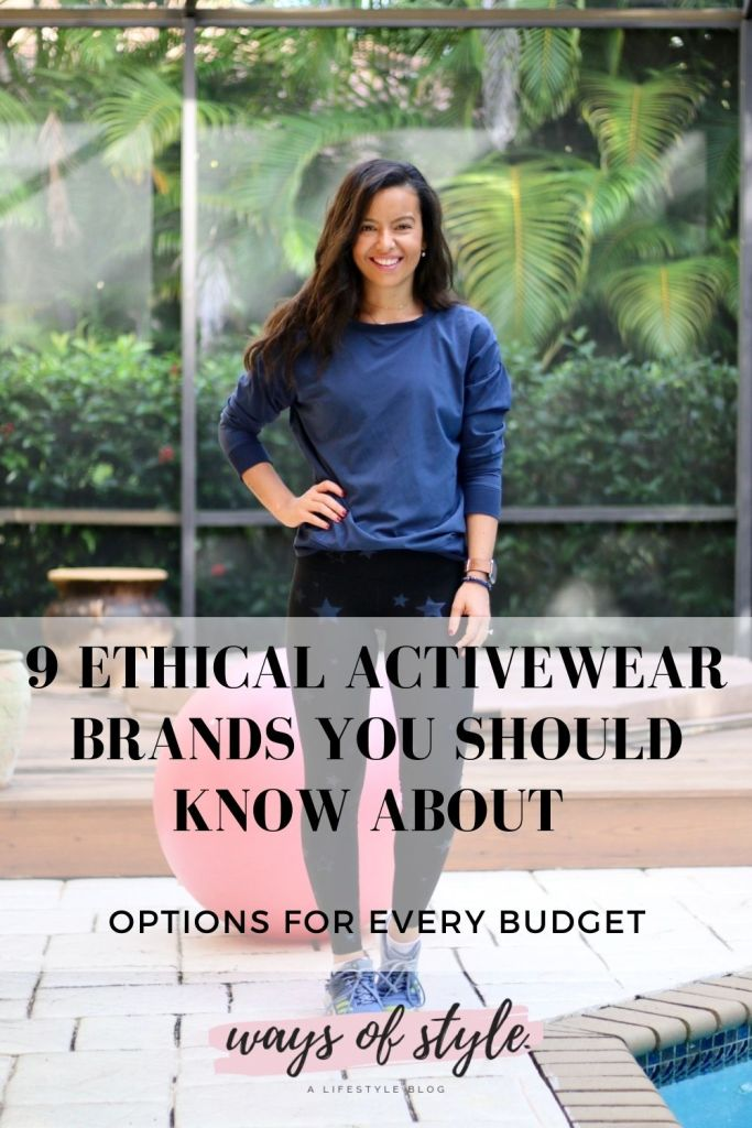 Wearing ethical activewear brands we should try to support more