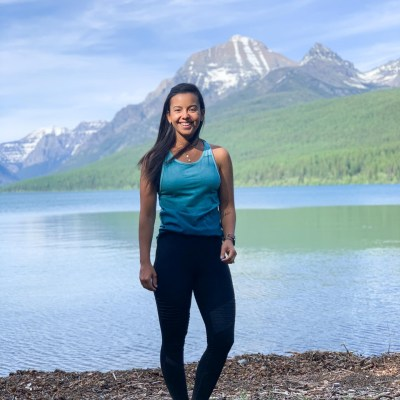 Wearing ethical activewear for a hike in Montana