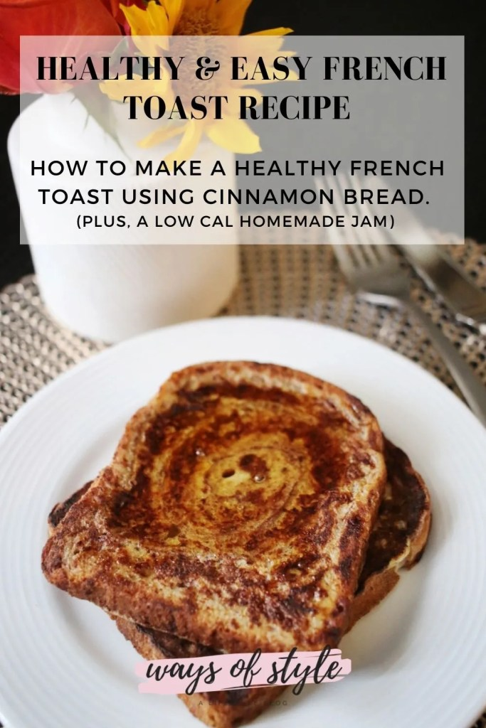 healthy French toast recipe Pinterest Pin