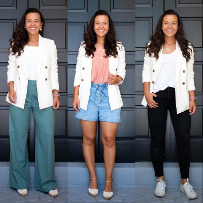 How to wear a white blazer in 3 different ways
