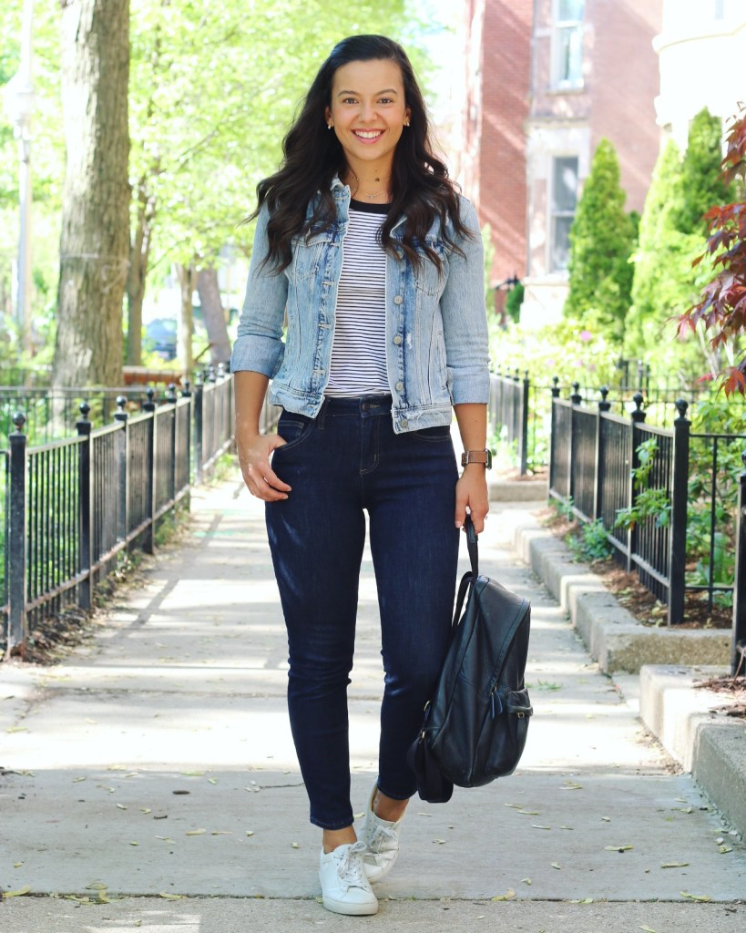 Styling a striped t-shirt for Summer with jeans