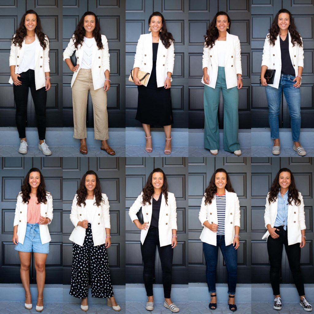10 white blazer outfit ideas for Spring and Summer