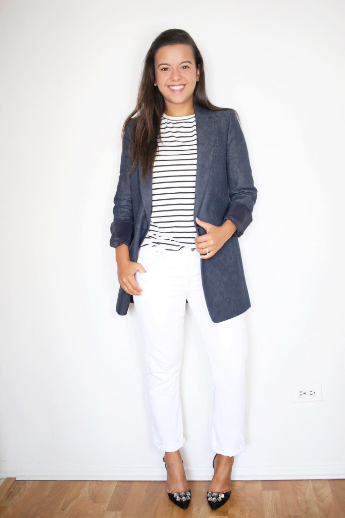 How to style white jeans for the office