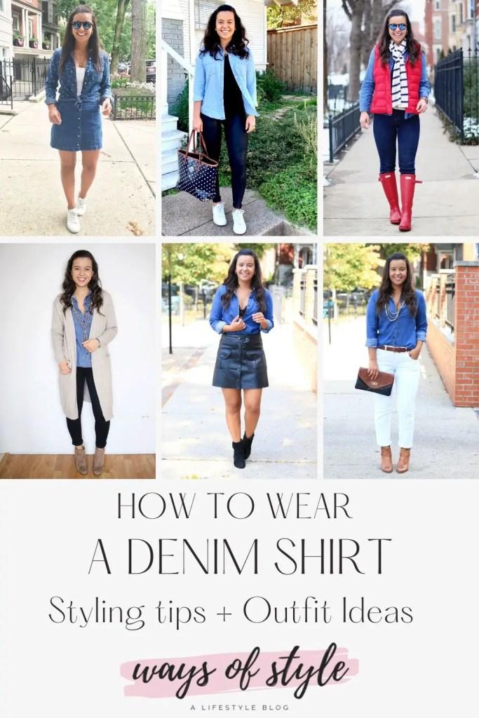 How to wear a denim shirt Pinterest Pin