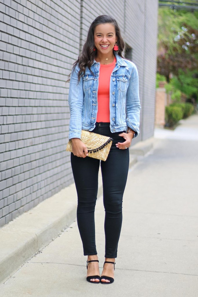 Cute outfits with a jean jacket for date night