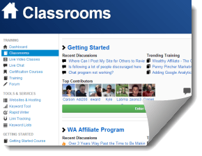 Wealthy Affiliate Classrooms!