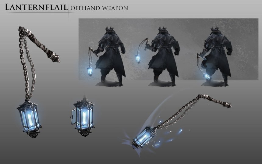 bloodborne_fanart___lanternflail_weapon_idea_by_daemonstar-d8pjvx3 - Copy
