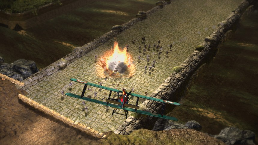 Toy Soldiers Biplane