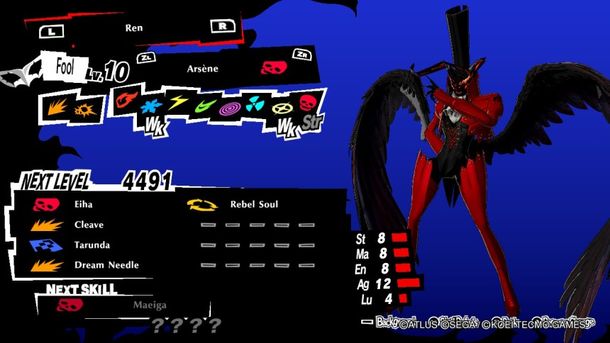 Persona 5 Strikers Arsene