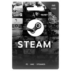 1000 INR Steam Wallet Code | Buy 1000 INR Steam Wallet Code