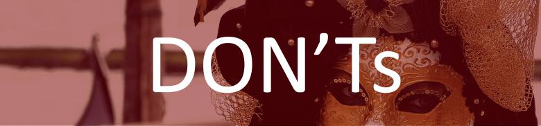 La Donna D'Oro - banner - red