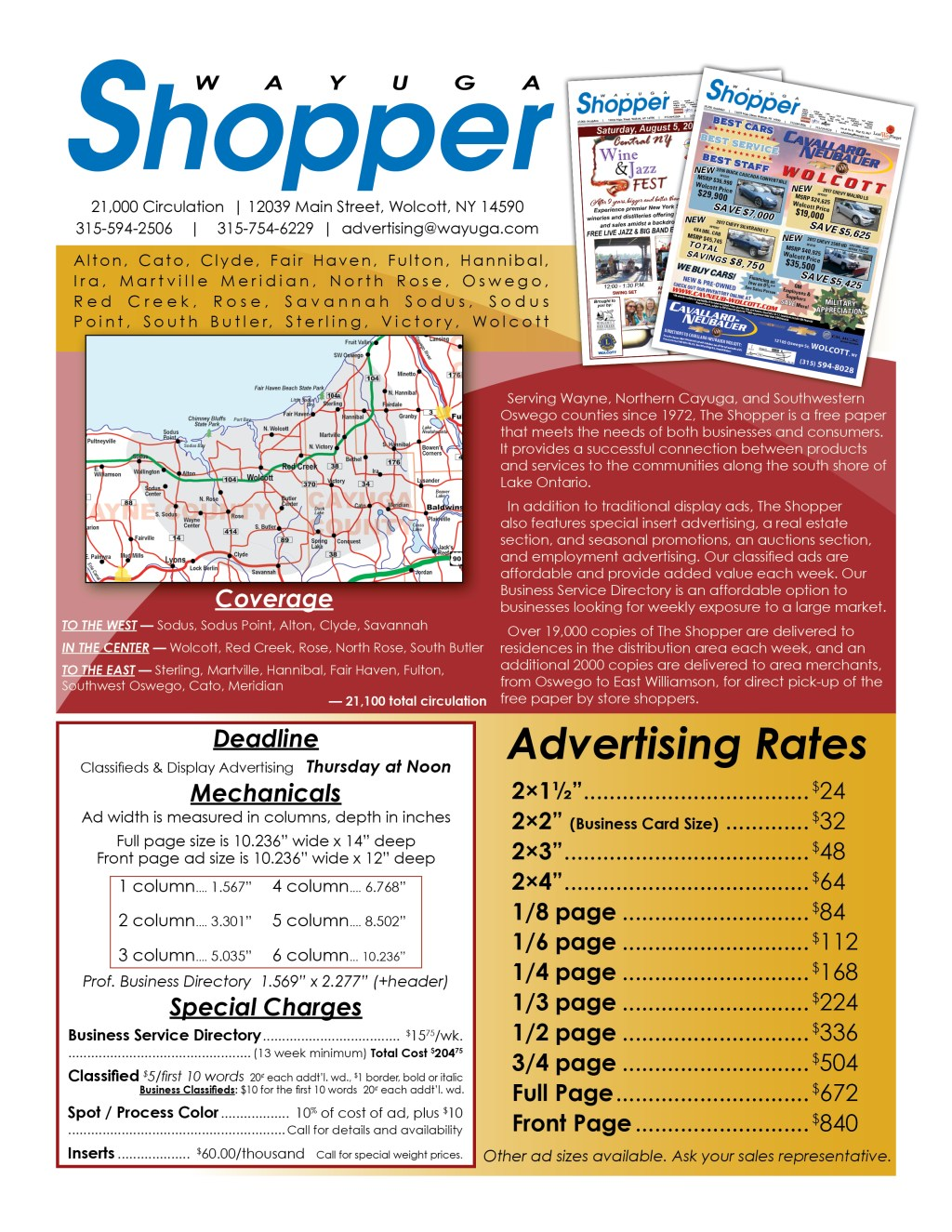 Wayuga Shopper Info Flyer