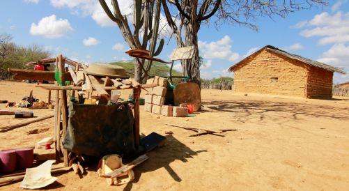 Wayuu house Wayuu People in the desert La guajira lombia colombian