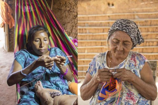 Wayuu bags weaved by Wayuu indigenous people from La Guajira Colombia
