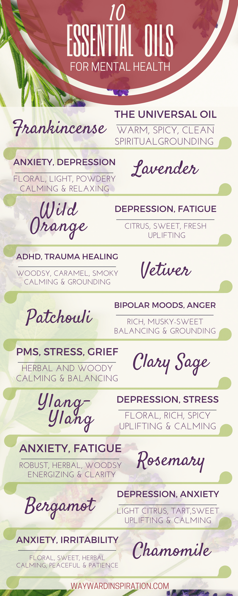 INFOGRAPHIC - 10 Essential Oils for Mental Health