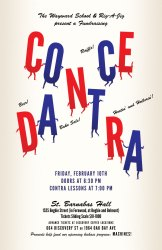 Contra Dance Fundraiser poster