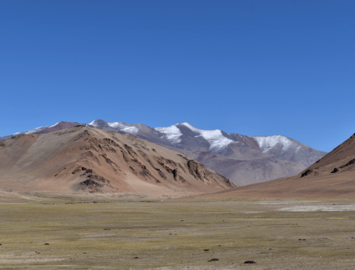 The barren landscapes of Manali-Leh Highway somewhere after Baralacha La