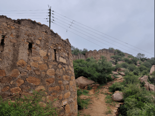 hemu fort dhosi hill