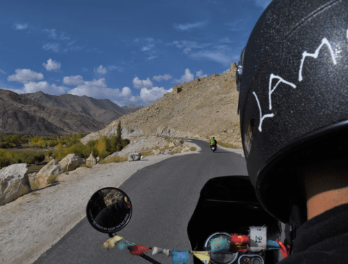 bike ride from leh to nubra valley ladakh