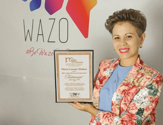 PRESIDENTA DE WAZO COOP ENTRE LAS 100 MUJERES LÍDERES DE COOPERATIVAS DEL MUNDO