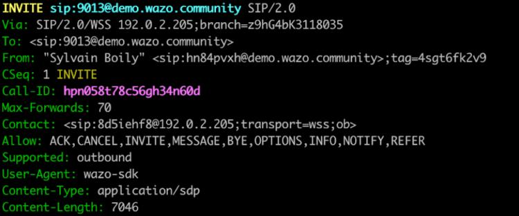 Protocole SIP entête