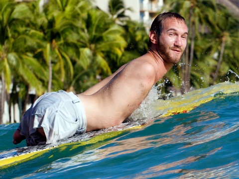 NICK VUJICIC | IS A SKY DIVER, PAINTER, AND SWIMMER | AND HE HAS NO ARMS OR LEGS!