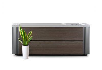 HotSpring-HotSpot-2020-Pace-AlpineWhite-Havana-Studio-FrontView-with plant