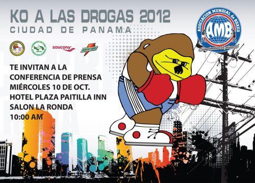 Invitación - Rueda de Prensa - KO a las Drogas Panamá