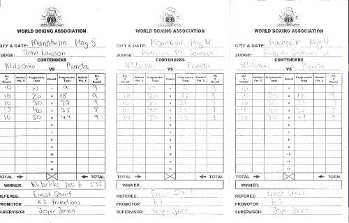 WBA Report and mastercard- Klitschko - Pianeta