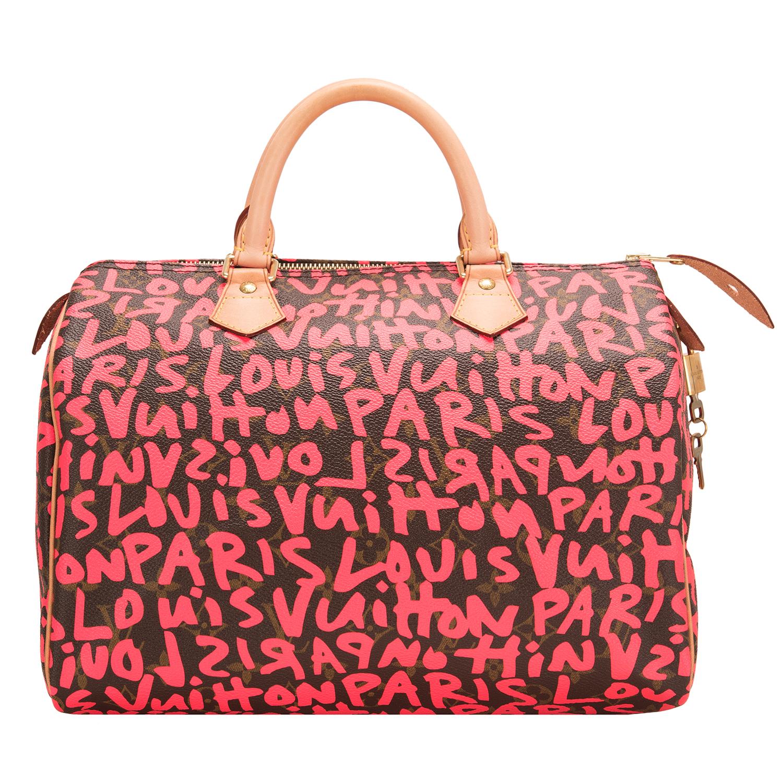 Louis Vuitton Fuchsia Pink Monogram Graffiti Speedy 30