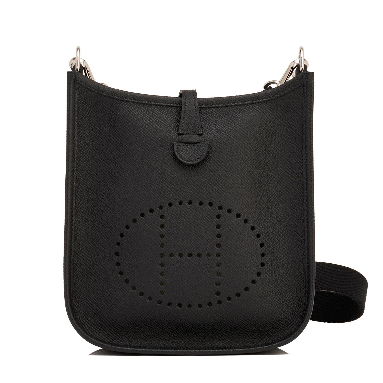 Hermes Evelyne TPM Bag Black Epsom Palladium Hardware