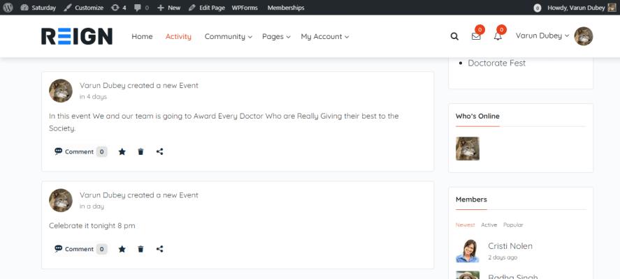 simple event plugin