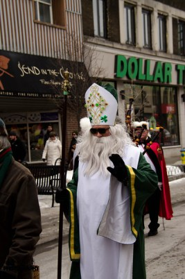 St Patrick chases the snakes out of Kingston
