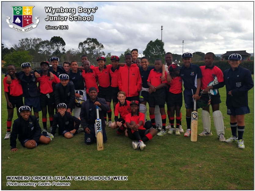 Wynberg's U13A with Dale College Junior, at CSW 2017