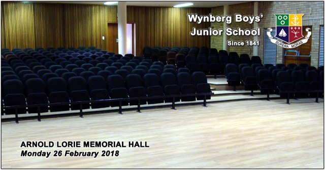 Arnold Lorie Memorial Hall refurbishment 2018