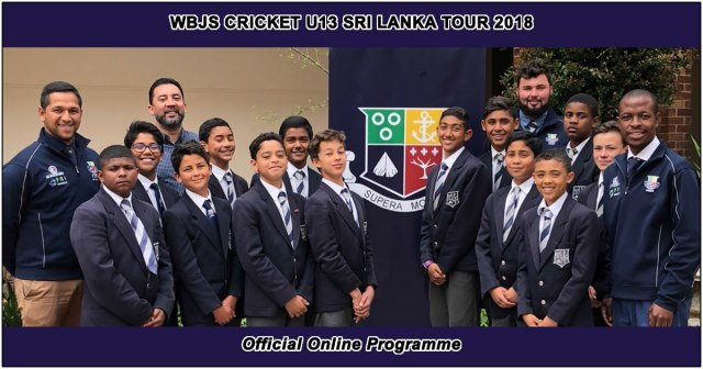 WBJS U13 Cricket Tour to Sri Lanka - Read the Official Programme online
