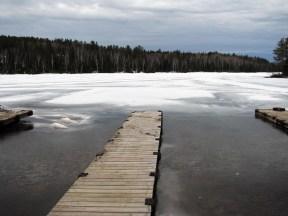 Ice releasing from docks (2014)