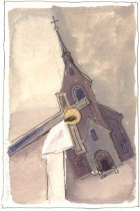 Stacja II: Jezus obarczony krzyżem