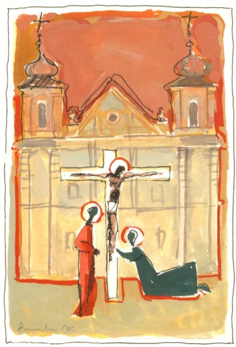 Stacja XII: Jezus umiera na krzyżu