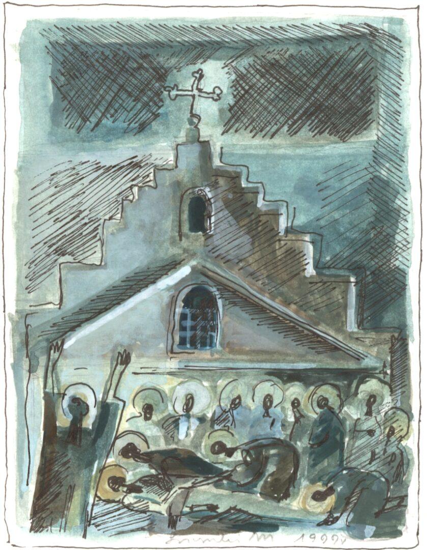 Stacja XIV: Jezus złożony w grobie