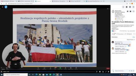 O współpracy z GBP w Starych Kobiałkach opowiedziała Maria Sigetii Mikołajewna z Winogradowa na Ukrainie. Na język polski tłumaczył Damian Świątek