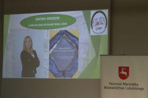 Lubelskim Bibliotekarzem Roku 2020 została Iwona Brodzik dyrektor Gminnej Biblioteki Publicznej w Starych Kobiałkach, gm. Stoczek Łukowski