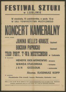 Afisz koncertowy. Zródło: polona.pl