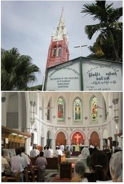 ヤンゴンのアングリカンチャーチの大聖堂