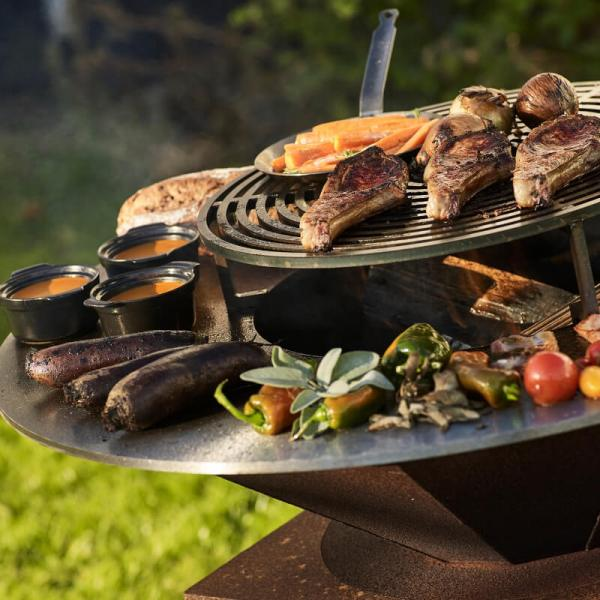 circle cooking grill