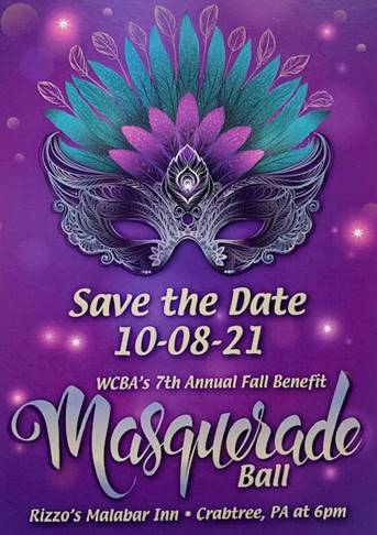 Save the date for the WCBA's 7th Annual Fall Benefit on October 8, 2021