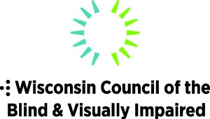 Logo above text Wisconsin Council of the Blind
