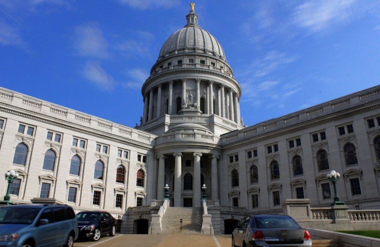 The east enterance to the wisconsin state capitol