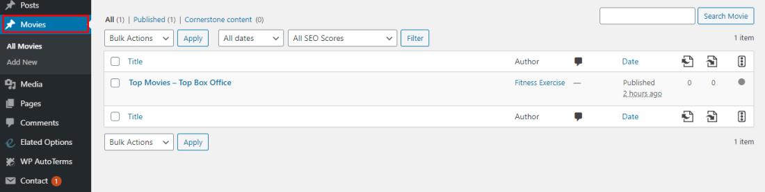 Create WordPress Custom Post Type