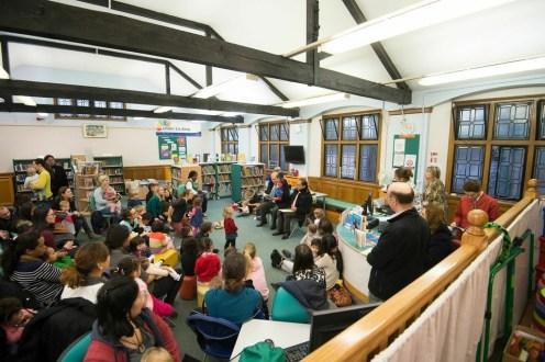 Ambassador to Peru reading Paddington Bear stories to under 5s. Paddington Bear visits Paddington Library, November 2014. Photos courtesy of Gavin Conlon Photography Ltd.